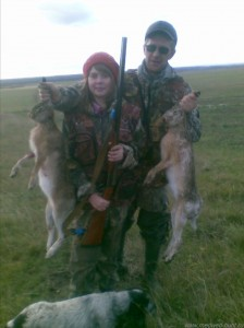 Охота со спаниелем на зайца