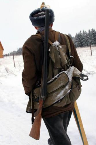 Ружьё охотника - промысловика.